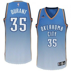 Hombre Camiseta Kevin Durant #35 Oklahoma City Thunder Adidas Resonate Fashion Azul Swingman