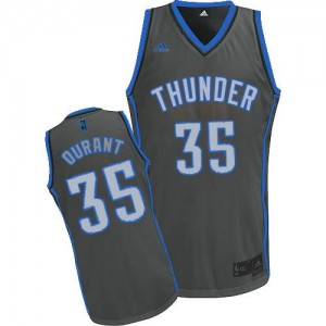 Hombre Camiseta Kevin Durant #35 Oklahoma City Thunder Adidas Graystone Fashion Gris Swingman
