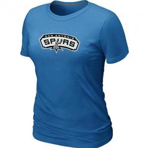 Mujer T-Shirts San Antonio Spurs Big & Tall Azul claro