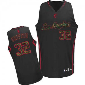 Camisetas Baloncesto Hombre NBA Los Angeles Clippers Fashion Authentic Blake Griffin #32 Black Camo