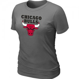 T-Shirt Primary Logo Mujer NBA Chicago Bulls Big & Tall Gris oscuro