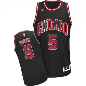 Camiseta NBA Chicago Bulls Bobby Portis #5 Alternate Adidas Negro Swingman - Hombre