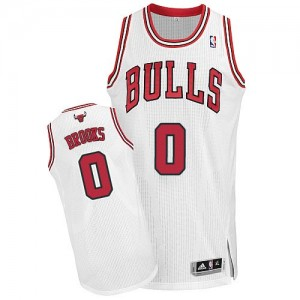 Camiseta NBA Chicago Bulls Aaron Brooks #0 Home Adidas Blanco Authentic - Hombre