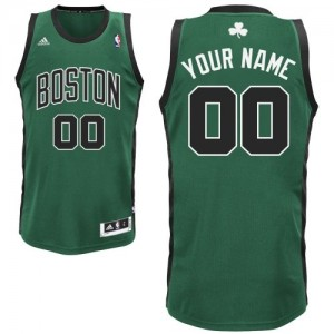 Adolescentes Camiseta Swingman Personalizadas Boston Celtics Adidas Alternate Verde (negro No.)