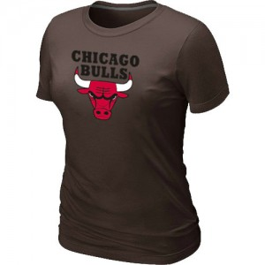 T-Shirt Primary Logo Mujer NBA Chicago Bulls Big & Tall marrón