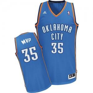 Hombre Camiseta Kevin Durant #35 Oklahoma City Thunder Adidas MVP Azul Swingman