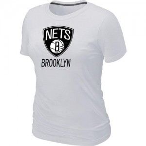 T-Shirt Primary Logo Mujer NBA Brooklyn Nets Big & Tall Blanco