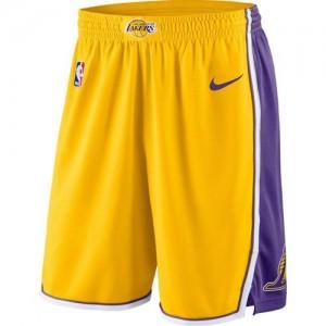 Hombre Pantalones Los Angeles Lakers Amarillo Icon Swingman