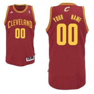 Camiseta NBA Cleveland Cavaliers Swingman Personalizadas Road Adidas Vino Rojo - Hombre
