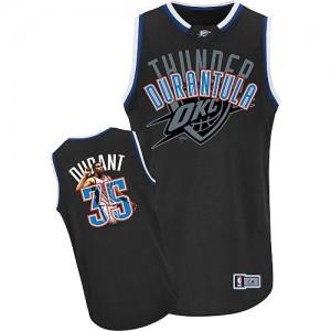 Hombre Camiseta Kevin Durant #35 Oklahoma City Thunder Majestic Athletic Notorious Fashion Negro Swingman