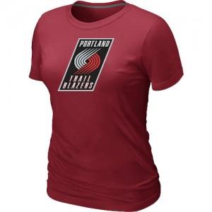T-Shirts NBA Portland Trail Blazers Big & Tall Rojo - Mujer