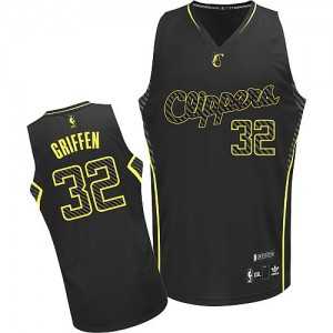 Camisetas Baloncesto Hombre NBA Los Angeles Clippers Electricity Fashion Authentic Blake Griffin #32 Negro
