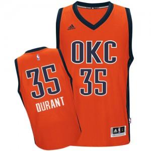 Camiseta NBA Oklahoma City Thunder Kevin Durant #35 climacool Adidas naranja Authentic - Hombre
