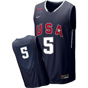 Team USA Nike 2010 World Blanco Authentic Camiseta de la NBA - Kevin Durant #5 - Hombre