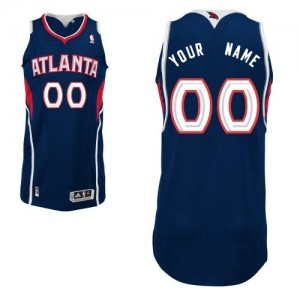 Camiseta NBA Authentic Personalizadas Road Azul marino - Atlanta Hawks - Hombre