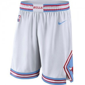 Pantalones Chicago Bulls Blanco City Edition Swingman - Hombre
