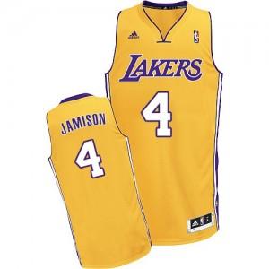 Los Angeles Lakers Adidas Home Oro Swingman Camiseta de la NBA - Byron Scott #4 - Hombre