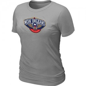T-Shirt Primary Logo Mujer NBA New Orleans Pelicans Big & Tall Gris