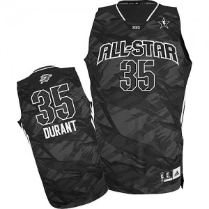 Hombre Camiseta Kevin Durant #35 Oklahoma City Thunder Adidas 2013 All Star Negro Authentic