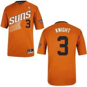 Camiseta NBA Phoenix Suns Brandon Knight #3 Alternate Adidas naranja Authentic - Hombre