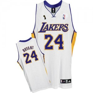 Los Angeles Lakers Adidas Alternate Champions Patch Blanco Swingman Camiseta de la NBA - Kobe Bryant #24 - Adolescentes