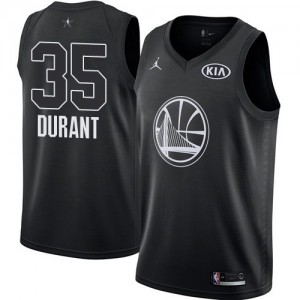 Camiseta Golden State Warriors Kevin Durant #35 2018 All-Star Game Jordan Negro Swingman Niño