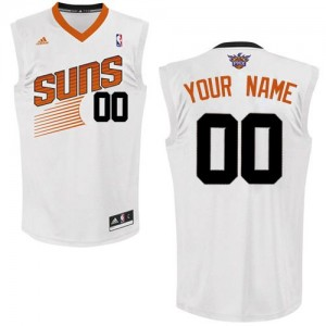 Adolescentes Camiseta Swingman Personalizadas Phoenix Suns Adidas Home Blanco