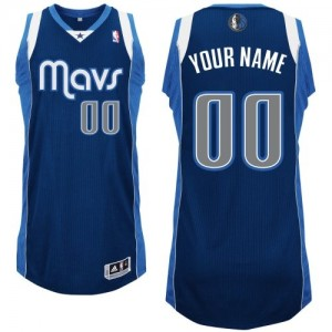Camiseta NBA Dallas Mavericks Authentic Personalizadas Alternate Adidas Azul marino - Hombre