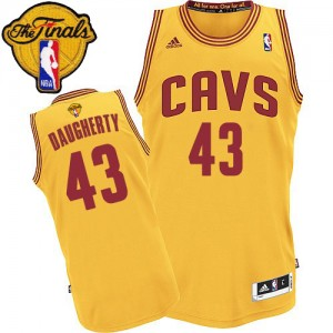 Camisetas Baloncesto Hombre NBA Cleveland Cavaliers Alternate 2015 The Finals Patch Authentic Brad Daugherty #43 Oro