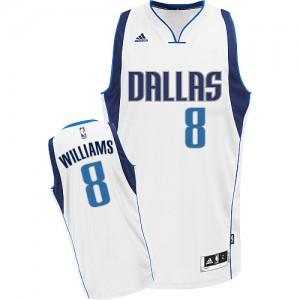Dallas Mavericks Adidas Home Blanco Swingman Camiseta de la NBA - Deron Williams #8 - Mujer