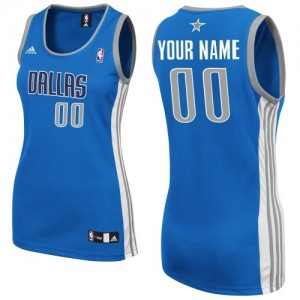 Mujer Camiseta Swingman Personalizadas Dallas Mavericks Adidas Road Azul real