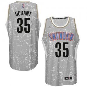 Hombre Camiseta Kevin Durant #35 Oklahoma City Thunder Adidas City Light Gris Swingman