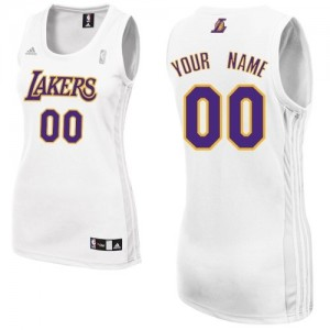 Camisetas Baloncesto Mujer NBA Los Angeles Lakers Alternate Swingman Personalizadas Blanco