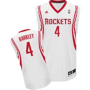 Camisetas Baloncesto Hombre NBA Houston Rockets Home Swingman Charles Barkley #4 Blanco