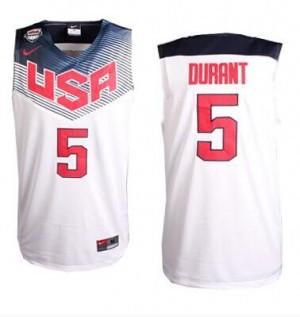 Team USA Nike 2014 Dream Team Blanco Authentic Camiseta de la NBA - Kevin Durant #5 - Hombre