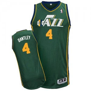Camiseta NBA Utah Jazz Adrian Dantley #4 Alternate Adidas Verde Authentic - Hombre