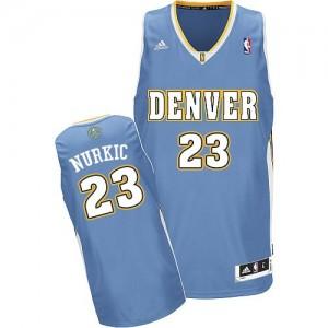 Camiseta NBA Denver Nuggets Jusuf Nurkic #23 Road Adidas Azul claro Swingman - Hombre