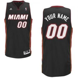 Camiseta Swingman Personalizadas Miami Heat Road Negro - Adolescentes