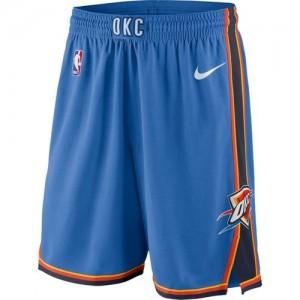 Oklahoma City Thunder Azul Icon Swingman Pantalones de la NBA - Hombre