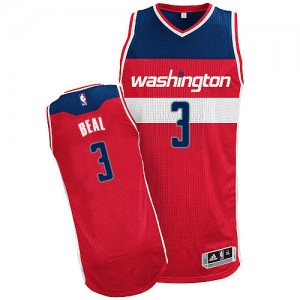 Camiseta NBA Road Washington Wizards Rojo Authentic - Hombre - #3 Bradley Beal