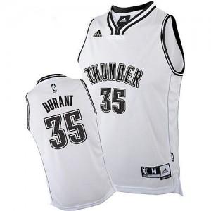 Hombre Camiseta Kevin Durant #35 Oklahoma City Thunder Adidas Blanco Swingman