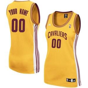 Camiseta NBA Cleveland Cavaliers Authentic Personalizadas Alternate Adidas Oro - Mujer
