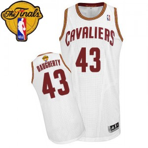 Camisetas Baloncesto Hombre NBA Cleveland Cavaliers Home 2015 The Finals Patch Authentic Brad Daugherty #43 Blanco