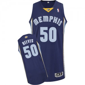 Camiseta NBA Authentic Bryant Reeves #50 Road Azul marino - Memphis Grizzlies - Hombre