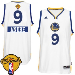 Camisetas Baloncesto Hombre NBA Golden State Warriors 2014-15 Christmas Day 2015 The Finals Patch Authentic Andre Iguodala #9 Blanco
