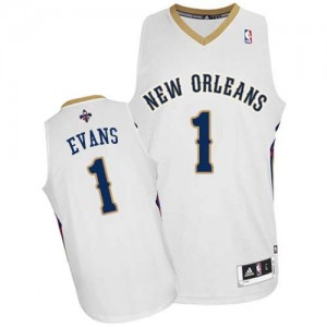 Camiseta NBA Authentic Tyreke Evans #1 Home Blanco - New Orleans Pelicans - Hombre