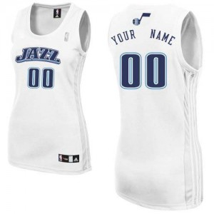 Camiseta NBA Home Utah Jazz Blanco - Mujer - Personalizadas Authentic