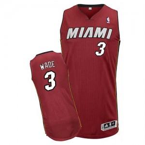 Camiseta NBA Authentic Dwyane Wade #3 Alternate Rojo - Miami Heat - Hombre