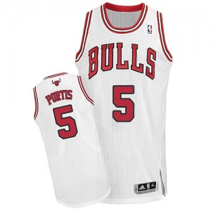 Camiseta NBA Chicago Bulls Bobby Portis #5 Home Adidas Blanco Authentic - Hombre