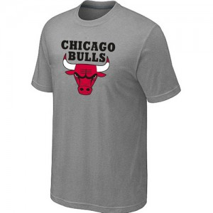 T-Shirt Hombre NBA Chicago Bulls Big & Tall Gris claro